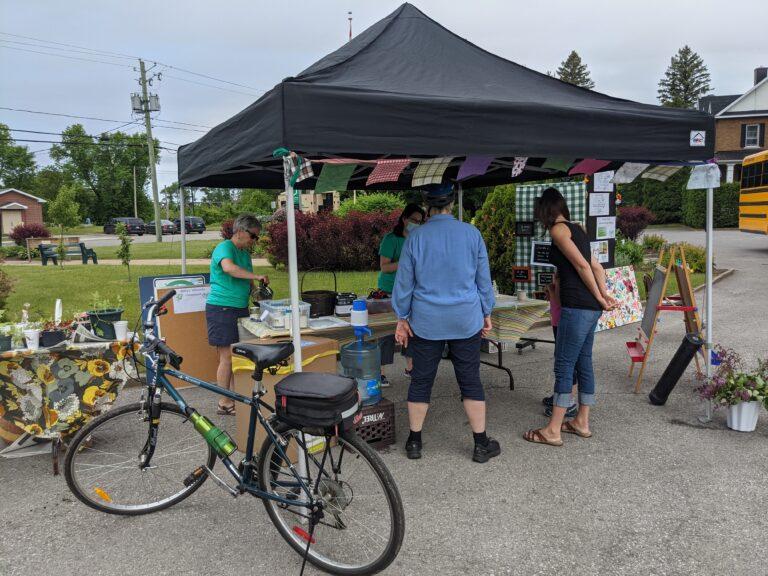 Kiosque pour le rallye vélo écolo
