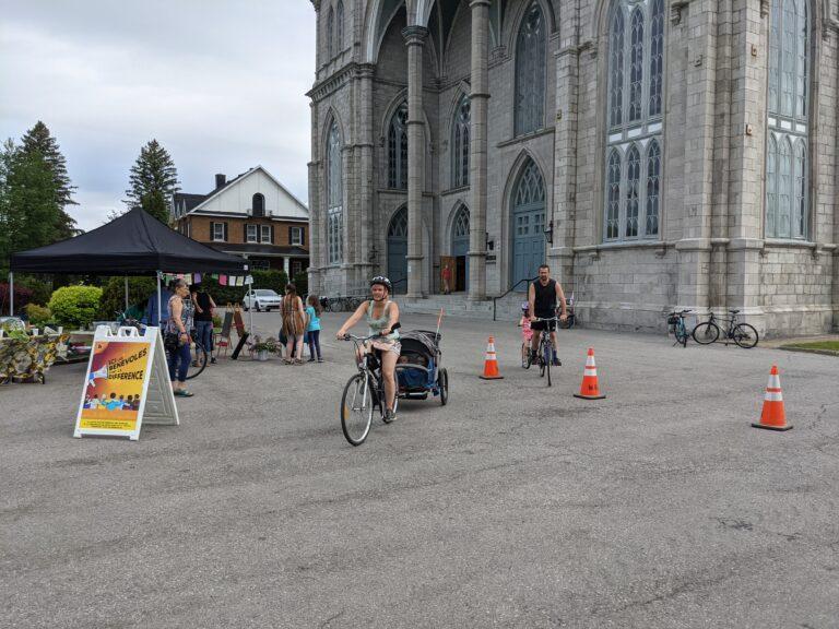 Des participants au rallye vélo écolo